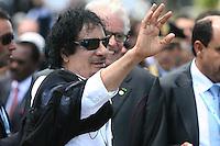 L'Aquila: Il leader libico Muammar Gheddafi al G8