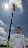 Caversham, Reading, Matt LANGRIDGE, GB Rowing Team Training at Redgrave Pinsent Lake, Engand [Credit Peter Spurrier/Intersport Images]  [Mandatory Credit, Peter Spurier/ Intersport Images]. , Rowing course: GB Rowing Training Complex, Redgrave Pinsent Lake, Caversham, Reading