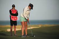 Marianne Skarpnord (NOR) & Richard Green (AUS) during the second round of the Fatima Bint Mubarak Ladies Open played at Saadiyat Beach Golf Club, Abu Dhabi, UAE. 11/01/2019<br /> Picture: Golffile | Phil Inglis<br /> <br /> All photo usage must carry mandatory copyright credit (© Golffile | Phil Inglis)