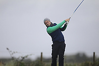 Conor Purcell from Ireland on the 8th tee during Round 3 Foursomes of the Men's Home Internationals 2018 at Conwy Golf Club, Conwy, Wales on Friday 14th September 2018.<br /> Picture: Thos Caffrey / Golffile<br /> <br /> All photo usage must carry mandatory copyright credit (&copy; Golffile | Thos Caffrey)