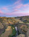 Palouse Falls State Park, Washington: Evening sky over the canyons of the Palouse River