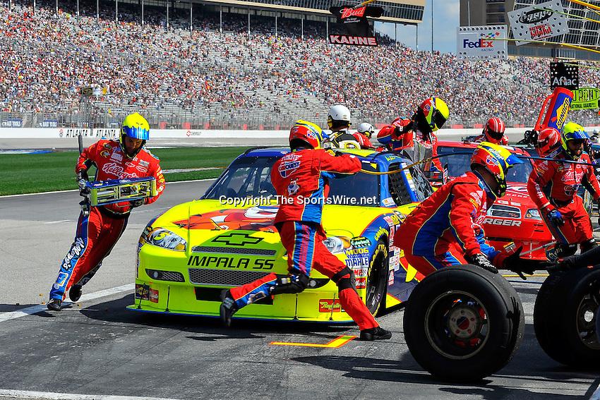 Mar 08, 2009; 1:31:21 PM; Hampton, GA, USA; NASCAR Sprint Cup Series race for the Kobalt Tools 500 at the Atlanta Motor Speedway.  Mandatory Credit: (thesportswire.net)