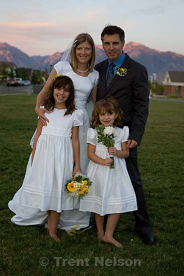 Maddie Quayle, Dave Scott wedding.Monday August 3, 2009 in South Jordan. drew, parker