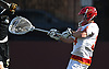 Andrew Bonafede #34, Chaminade goalie, passes upfield during a Nassau-Suffolk CHSAA varsity boys lacrosse game against St. Anthony's at Chaminade High School on Wednesday, April 5, 2017. Chaminade won by a score of 12-6.