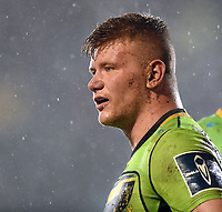Reece Marshall of Northampton Saints looks on during a break in play. Anglo-Welsh Cup Semi Final, between Bath Rugby and Northampton Saints on March 9, 2018 at the Recreation Ground in Bath, England. Photo by: Patrick Khachfe / Onside Images
