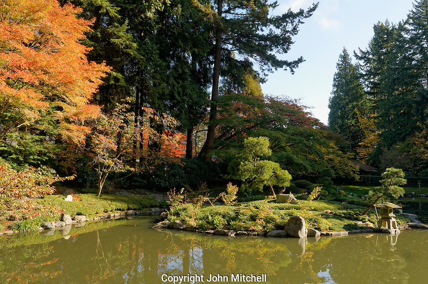 Nitobe Memorial Garden, a traditional Japanese garden at the University of British Columbia, Vancouver, Canada