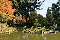 Nitobe Memorial Garden, a traditional Japanese garden at the University of British Columbia, Vancouver, Canada