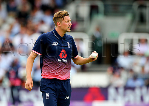 May 29th 2017, Lords, London, England, One Day International Cricket, England versus South Africa; Jake Ball of England prepares to bowl