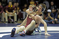 STATE COLLEGE, PA - JANUARY 25: Ethan Lizak of the Minnesota Golden Gophers and Jordan Conaway of the Penn State Nittany Lions during their match on January 25, 2015 at Recreation Hall on the campus of Penn State University in State College, Pennsylvania. Minnesota won 17-16. (Photo by Hunter Martin/Getty Images) *** Local Caption *** Jordan Conaway;Ethan Lizak