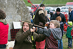 7 years old Dean Lawless from Dublin getting in some Archery in the Re-Enactment Camp at The Brian Boru Festival in Killaloe/Ballina during the Commemoration Weekend.<br /> Pictured Credit Brian Gavin Press 22