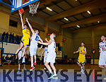 Eoin O'Sullivan Killorglin drives to the basket against LYIT Donegal in Killorglin on Saturday night