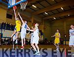 Eoin O'Sullivan Killorglin drives to the basket against LYIT Donegal in Killorglin on Saturday night