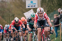 Tiesj Benoot (BEL/Lotto-Soudal)<br /> <br /> 74th Omloop Het Nieuwsblad 2019 <br /> Gent to Ninove (BEL): 200km<br /> <br /> ©kramon