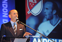 Philadelphia, PA. - January 15, 2015: MLS SuperDraftL 2015 Landon Donovan Tribute event at the Pennsylvania Convention Center.