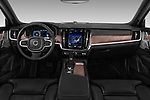 Stock photo of straight dashboard view of 2017 Volvo V90 Inscription 5 Door Wagon Dashboard