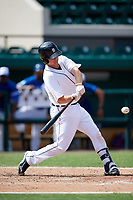 Detroit Tigers catcher Jake Rogers (52) at bat during an Instructional League game against the Toronto Blue Jays on October 12, 2017 at Joker Marchant Stadium in Lakeland, Florida.  (Mike Janes/Four Seam Images)