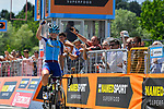Fabio Aru (ITA) Astana wins the Italian National Championships 2017 Elite Men road race running 236km from Asti to Ivrea, Piemonte, Italy. 25/06/2017.<br /> Picture: Foto LaPresse/Fabio Ferrari | Cyclefile<br /> <br /> <br /> All photos usage must carry mandatory copyright credit (&copy; Cyclefile | LaPresse/Fabio Ferrari)