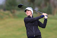 Maia Samuelsson (SWE) on the 1st tee during Round 1 of the Irish Girls U18 Open Stroke Play Championship at Roganstown Golf &amp; Country Club, Dublin, Ireland. 05/04/19 <br /> Picture:  Thos Caffrey / www.golffile.ie