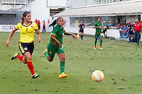 SANTOS,SP, 22.11.2015 - COLOMBIAxBOLIVIA -  Lance da partida entre Bolivia e Colombia em jogo válido pela 3ª rodada do Campeonato Sul Americano Feminino Sub 20  de 2015 na Vila Belmiro, em Santos/SP, neste domingo, 22. (Foto: Flavio Hopp / Brazil Photo Press).