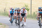Ag2r La Mondiale feeling the pace on the first pass of the final climb during Stage 1 of the Route d'Occitanie 2019, running 175.5km from Gignac-Vallée de l'Hérault to Saint-Geniez-d'Olt-et-d'Aubrac , France. 20th June 2019<br /> Picture: Colin Flockton | Cyclefile<br /> All photos usage must carry mandatory copyright credit (© Cyclefile | Colin Flockton)