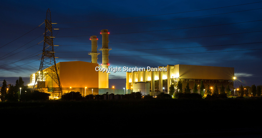 © Stephen Daniels/DANPICS --22/06/2017-----<br /> -------Spalding Energy Co.Ltd - Internee, Spalding Power Station, West Marsh Road, Spalding, Lincolnshire.---Night shot---Night view landscape<br /> --------<br /> REMOVE OF THE META DATA AND COPYRIGHT INFORMATION WILL CONSTITUTE ACT THIEFT AND DECEPTION AND BE SEEN AS ACT TO DEPRIVE ME OF ALL FEES OUT DUE.<br />  -------<br /> THIS PICTURE MUST BE CLEARED BEFORE USE. -If breached £10m-------------------<br />  *-------------------------------------------------------------------<br /> >------<br /> >------<br /> All images are supplied & used under the terms and condition of Stephen Daniels and not publication which use them.<br /> All images which is the copyright of Stephen Daniels<br />  are supplied under the terms and <br /> condition of Stephen Daniels. By using the image you<br /> agree them in full.----<br /> >