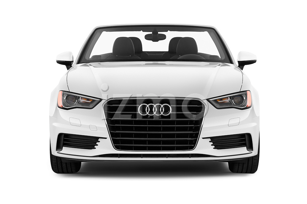Car photography straight front view of a 2015 Audi A3 2.0T quattro S tronic Premium 2 Door Convertible