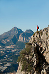 Puig Campana mountain from the Bernia Mountain range, Alicante province. Spain.