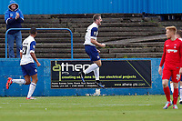 Jordan White scores Barrows 2nd and celebrates during Barrow vs Leyton Orient, Vanarama National League Football at the Furness Building Society Stadium on 7th October 2017