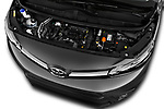 Car Stock 2017 Toyota Proace-Verso Medium 5 Door Passenger Van Engine  high angle detail view