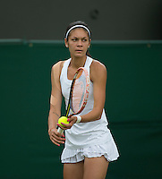 ANDREEA MITU (ROM)<br /> <br /> The Championships Wimbledon 2014 - The All England Lawn Tennis Club -  London - UK -  ATP - ITF - WTA-2014  - Grand Slam - Great Britain -  24th June 2014. <br /> <br /> &copy; AMN IMAGES
