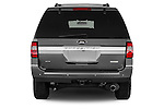 Straight rear view of a 2017 Ford Expedition XLT 5 Door SUV Rear View  stock images
