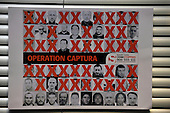 Most Wanted criminals in Operation Captura poster which includes three with Scottish Connection - those crossed in red show are already in custody - Operation Captura is the multi-agency campaign which looks to arrest criminals in Spain who are wanted in the UK - Picture by Donald MacLeod - 21.2.11 - 07702 319 738 - www.donald-macleod.com