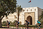The peleton in action during Stage 4 of the 2018 Tour of Oman running 117.5km from Yiti (Al Sifah) to Ministry of Tourism. 16th February 2018.<br /> Picture: ASO/Muscat Municipality/Kare Dehlie Thorstad   Cyclefile<br /> <br /> <br /> All photos usage must carry mandatory copyright credit (&copy; Cyclefile   ASO/Muscat Municipality/Kare Dehlie Thorstad)