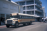 Novelos bus in downtown Belize City, Belize
