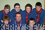 Sean Sweeney, Scout Leader, (centre) who has been with Fossa 8th Kerry Scouts group from the very start celebrates the company's 25th anniversary in the Prince of Peace Church Fossa on Friday evening with some of his scouts.   Copyright Kerry's Eye 2008
