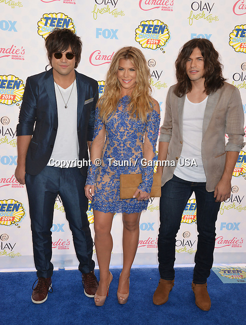 Band Perry , Neil Perry, Kimberly Perry, Reid Perry 407 at the 86th Oscars 2014 at the Dolby Theatre In Los Angeles.