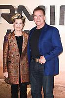 "Linda Hamilton and Arnold Schwarzenegger<br /> at the ""Terminator: Dark Fate"" photocall, London.<br /> <br /> ©Ash Knotek  D3529 17/10/2019"