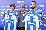 CD Leganes new players Bryan Gil Salvatierra and Miguel Ángel Guerrero Martín during his official presentation. February 5, 2020. <br /> (ALTERPHOTOS/David Jar)