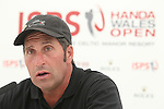 ISPS Handa Wales Open 2012.Ryder Cup captain Jose Maria Olazabal speaking at a press conference on the eve of the tournament...30.05.12.©Steve Pope