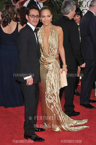 Jennifer Lopez & Marc Anthony at the 66th Annual Golden Globe Awards at the Beverly Hilton Hotel..January 11, 2009 Beverly Hills, CA.Picture: Paul Smith / Featureflash