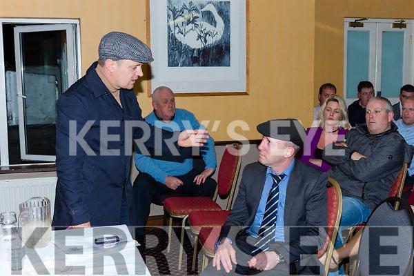 Killarney Travellers protest meeting in Killarney Friday night.