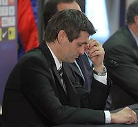 15.06.2012 Barcelona. El FC Barcelona show Tito Vilanova new first team coah