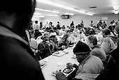 Cleveland, Ohio.March 28, 2008 ..Meals are handed out that the Catholic Charities Emergency Center in Cleveland to some 400+ homeless. The homeless and unemployed have increased in Cleveland since the mortgage crisis...