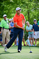 Jon Rahm (ESP) watches his tee shot on 11 during round 3 of the Shell Houston Open, Golf Club of Houston, Houston, Texas, USA. 4/1/2017.<br /> Picture: Golffile | Ken Murray<br /> <br /> <br /> All photo usage must carry mandatory copyright credit (&copy; Golffile | Ken Murray)