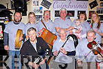Cuimhimis which was set up by the late Muireann Clifford as a way of giving musical instruments to children held a 12-2-12 session in Sheahans bar Killorglin on Saturday front row l-r: Stephen Scales, Pat Flaherty, Kieran Kelleher. Back row: Barry Lynch, Denise Murphy, mike Duggan, Myles O'Brien, Helen Horgan, Grace lily Teahan and Norma Hickey