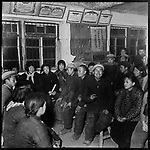 The Donghuan production brigade holds a meeting to reaffirm socialist values and political and ideological correctness. Ashihe commune, Acheng county 27 March 1965