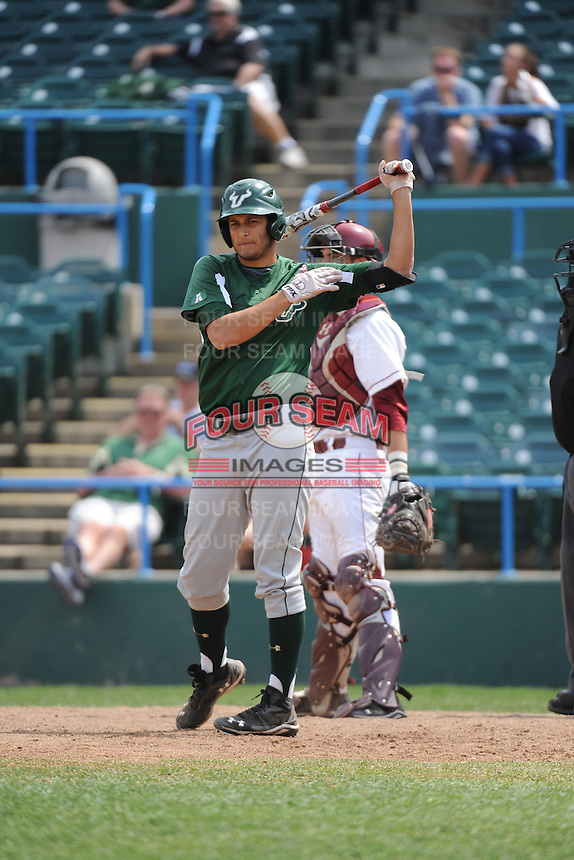 University of South Florida Bulls infielder Daniel Portales (29) during a game against the Temple University Owls at Campbell's Field on April 13, 2014 in Camden, New Jersey. USF defeated Temple 6-3.  (Tomasso DeRosa/ Four Seam Images)