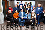 Members of the St Mary's Basketball Team Castleisland received their Kerry County Council and Municipal District Awards at the ceremony in the Rose Hotel on Thursday night pictured with members of the Killarney Municipal District.