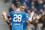 07.04.2018 Rangers v Dundee:<br /> Alfredo Morelos still raging as Jamie Murphy celebrates with him