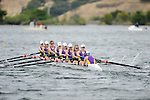28 MAY 2011: Williams College II races down river during the Grande Eights Final during the 2011 NCAA Division III Women's Rowing Championship hosted by Washington State University held at the Sacramento State Aquatic Center in Gold River, CA. Williams II placed 6th in the race. Brett Wilhelm/NCAA Photos